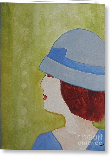 Jeunes Filles Greeting Cards - Little Lady Greeting Card by Sandy McIntire