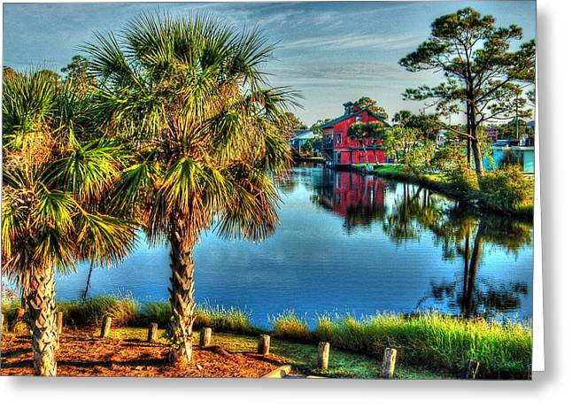 Crimson Tide Digital Art Greeting Cards - Little Lagoon Bayou Greeting Card by Michael Thomas