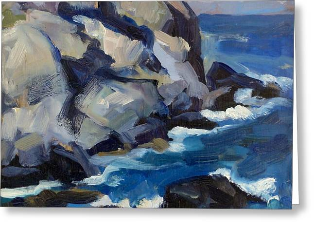 Little Maine Seascape Greeting Card by Thor Wickstrom