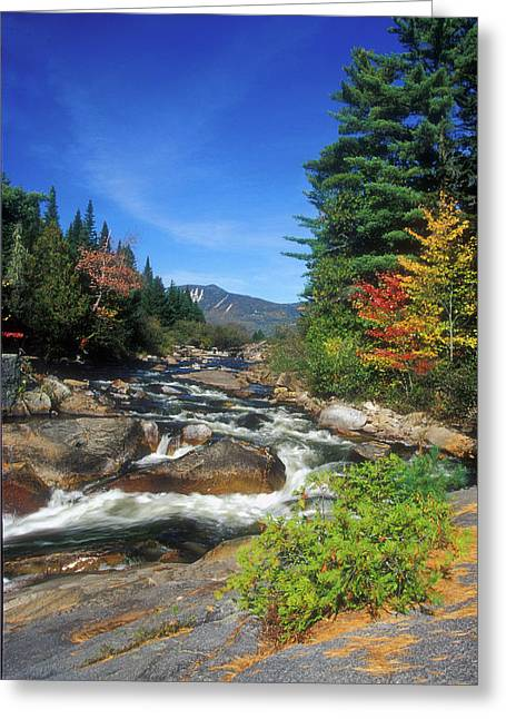 Baxter Park Greeting Cards - Little Niagra Falls Baxter State Park Greeting Card by John Burk