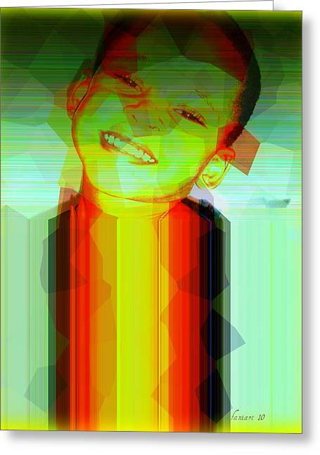 Obama Children Greeting Cards - Little Obama Greeting Card by Fania Simon
