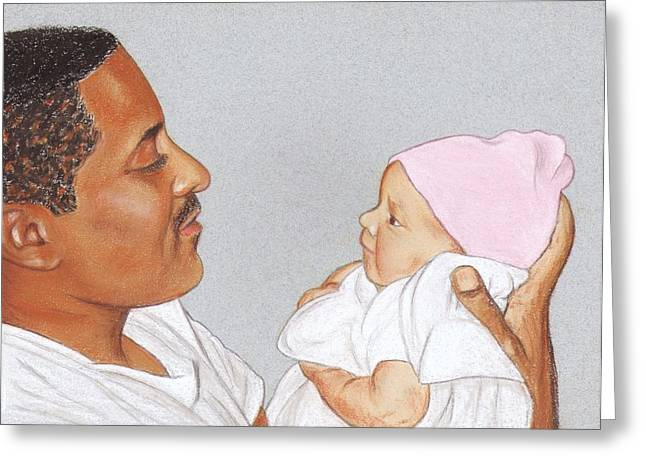 African-american Pastels Greeting Cards - Little One Greeting Card by Paula  Parker