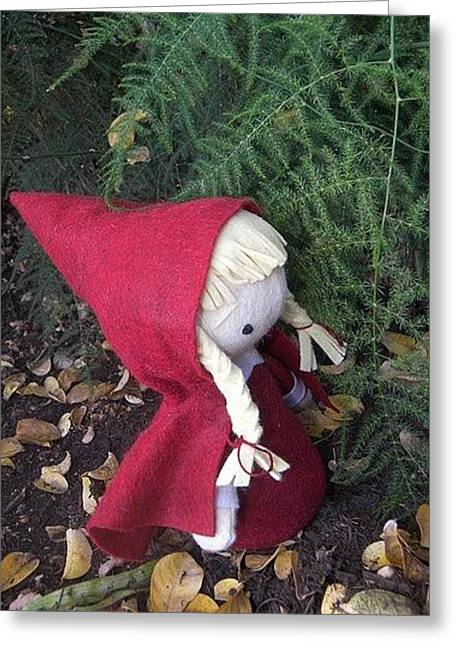 Little Sculptures Greeting Cards - Little Red Greeting Card by Leeanne Vavra