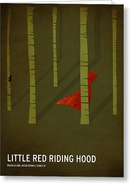 Fairy Tales Greeting Cards - Little Red Riding Hood Greeting Card by Christian Jackson