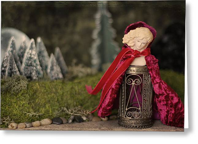 Lessons Greeting Cards - Little Red Riding Hood Greeting Card by Heidi Thrasher