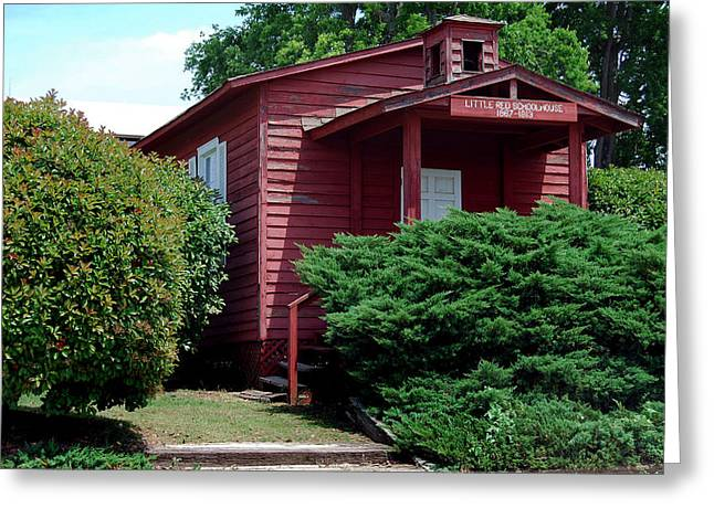 Red School House Photographs Greeting Cards - Little Red  Greeting Card by Skip Willits