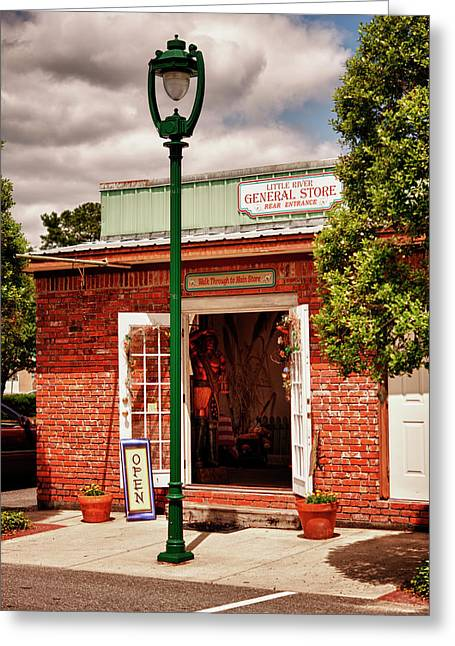 Store Fronts Greeting Cards - Little River General Store Greeting Card by Frank Feliciano