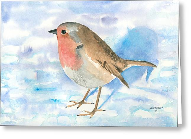 Robin Greeting Cards - Little Robin Greeting Card by Arline Wagner