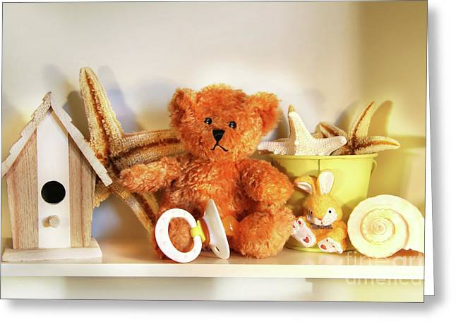 Accessory Greeting Cards - Little rusty teddy bear Greeting Card by Sandra Cunningham