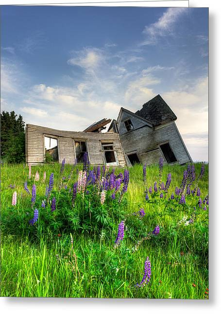 Historic Home Greeting Cards - Little Sands Farm House Greeting Card by Matt Dobson