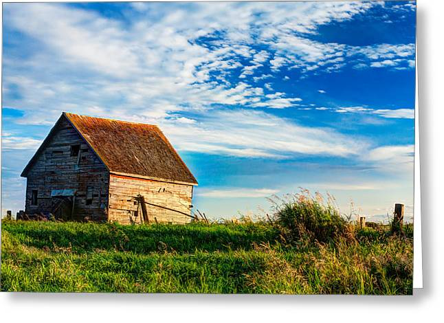 Little Shed On The Prairie Greeting Card by Matt Dobson
