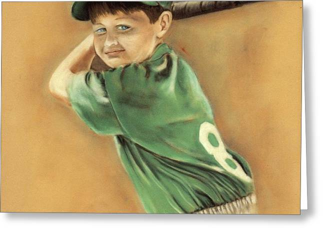 Little Slugger Greeting Card by Robin Martin Parrish