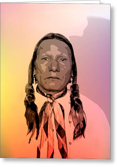 Native American Heroes Greeting Cards - Little Soldier Greeting Card by Lisa Berton