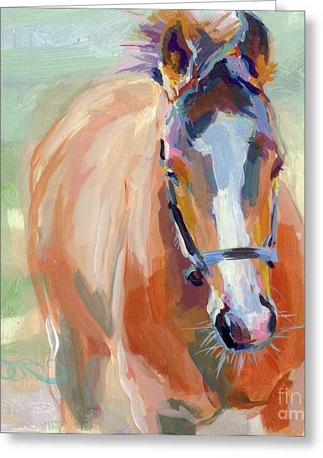 Race Horse Greeting Cards - Little Spider Greeting Card by Kimberly Santini