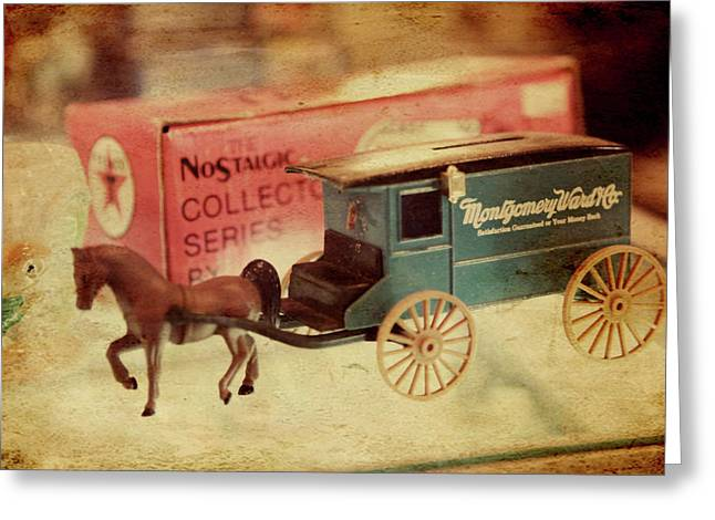 Collectors Toys Photographs Greeting Cards - Little Stagecoach Greeting Card by Toni Hopper
