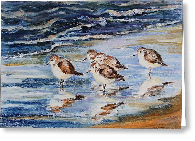 Seen Pastels Greeting Cards - Little Stints Greeting Card by Barbara Pommerenke