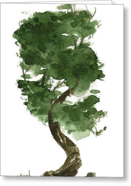 Asian Influence Greeting Cards - Little Tree 128 Greeting Card by Sean Seal