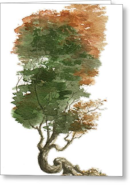 Asian Influence Greeting Cards - Little Tree 15 Greeting Card by Sean Seal