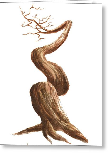 Bare Trees Greeting Cards - Little Tree 76 Greeting Card by Sean Seal