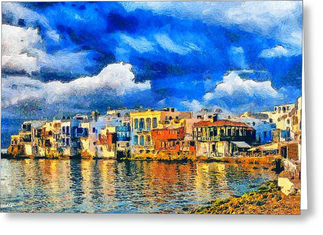 G.rossidis Greeting Cards - Little Venice Greeting Card by George Rossidis