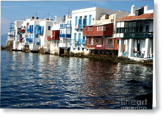 Greek Art Greeting Cards - Little Venice Greeting Card by Rebecca Margraf