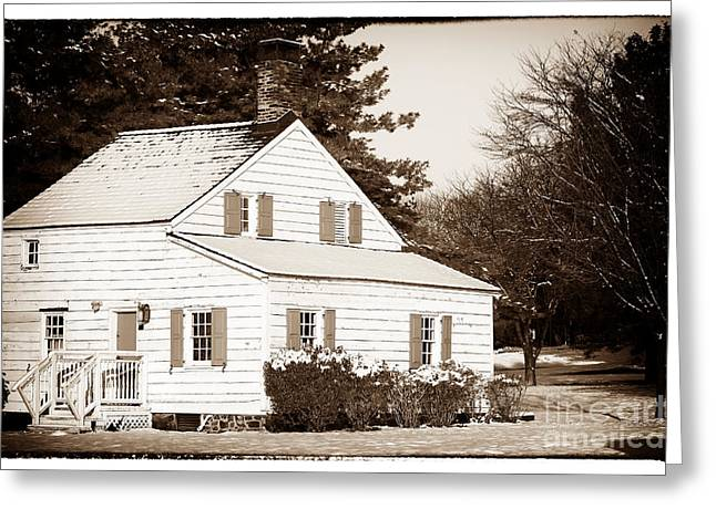 Little White House Greeting Card by John Rizzuto