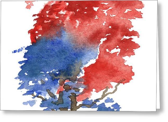 Little Zen Tree 292 Greeting Card by Sean Seal