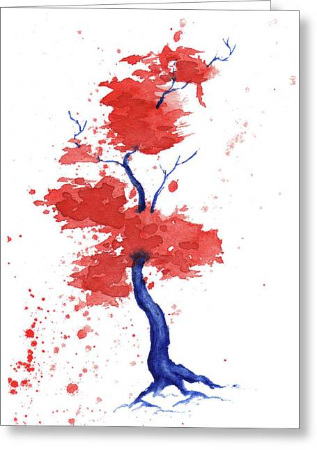 Independence Day Paintings Greeting Cards - Little Zen Tree 293 Greeting Card by Sean Seal
