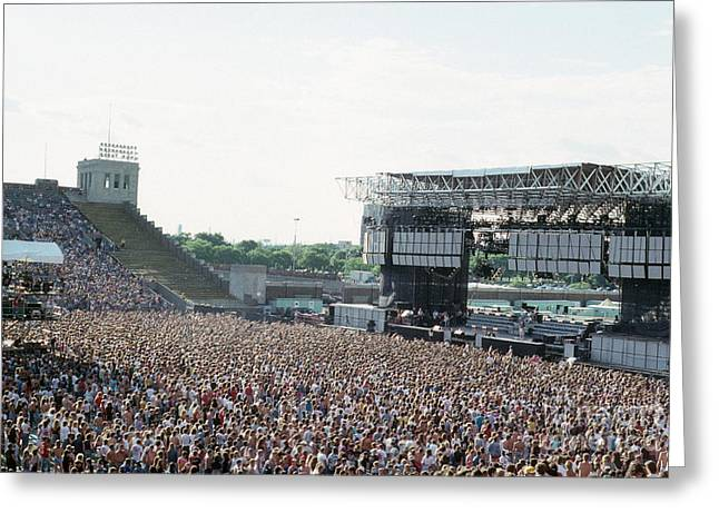 Live Concerts Greeting Cards - Live Aid at JFK Greeting Card by Rich Fuscia