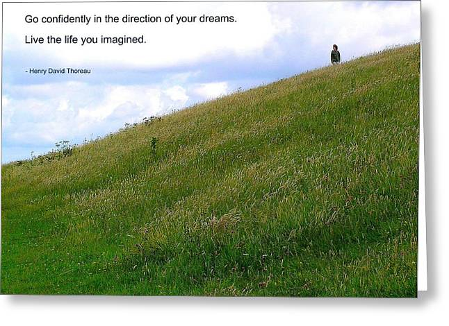 Motivational Poster Greeting Cards - Live the Life You Imagined Greeting Card by Jen White