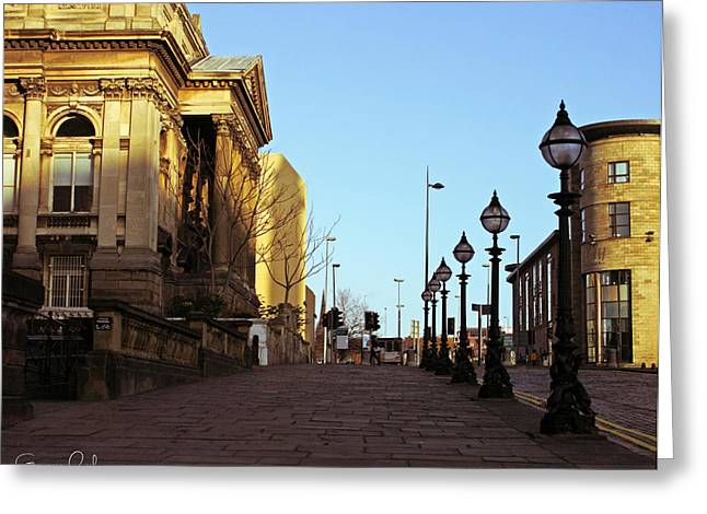 People Greeting Cards - Liverpool  Greeting Card by Nomad Art And  Design