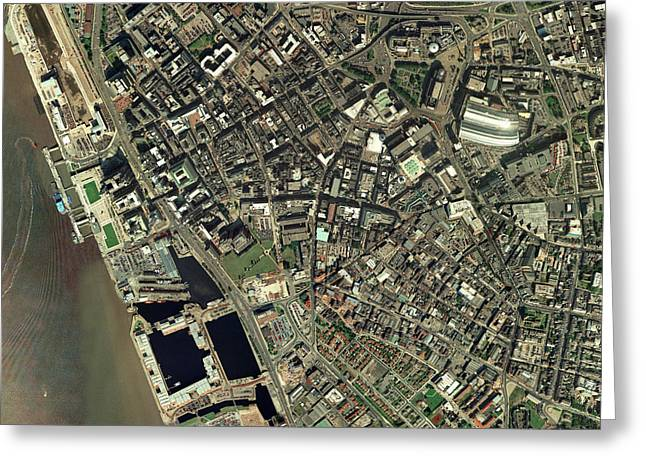 Port Town Greeting Cards - Liverpool, Uk, Aerial Image Greeting Card by Getmapping Plc