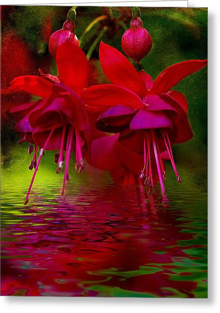 Fushia Greeting Cards - Living Bells Greeting Card by Heather Thorning