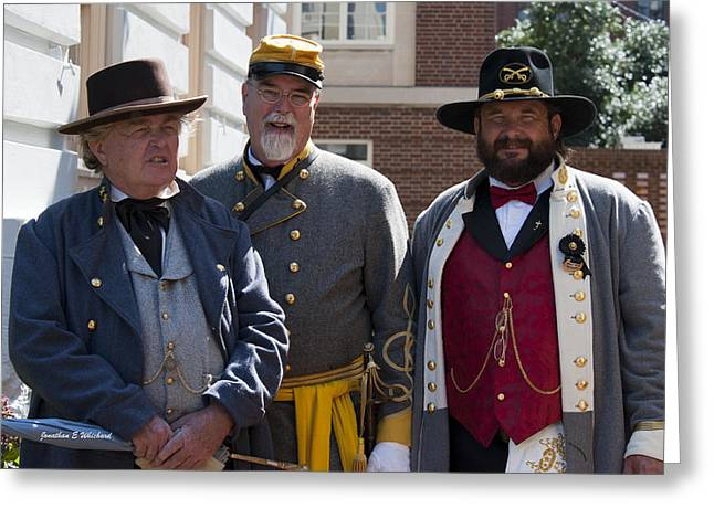 Lomax Greeting Cards - Living History C.S.A.150th Anniversary of the Civil War Warrenton Virginia Greeting Card by Jonathan Whichard