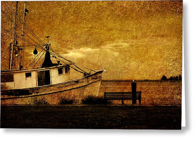 Boats In Water Photographs Greeting Cards - Living in the past Greeting Card by Susanne Van Hulst