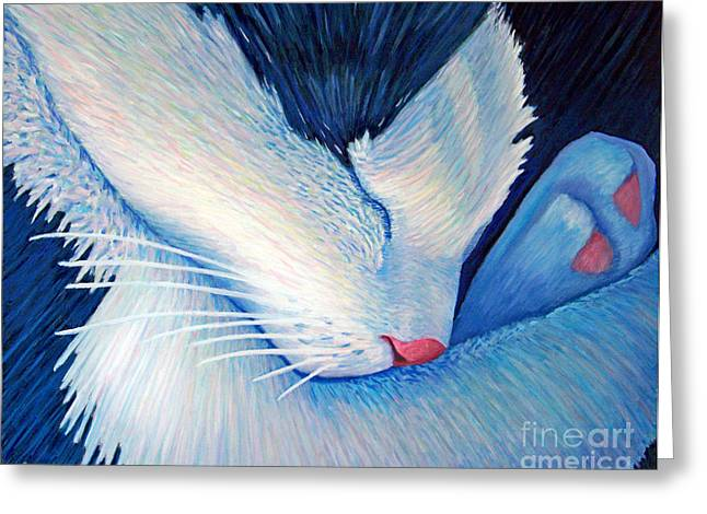 Sleeping Cats Greeting Cards - Living The Dream Greeting Card by Brian  Commerford
