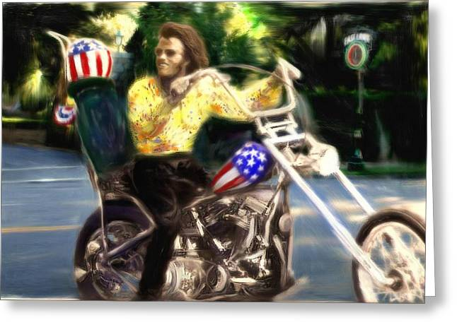 The American Dream Digital Art Greeting Cards - Living the Dream Greeting Card by Michael Cleere