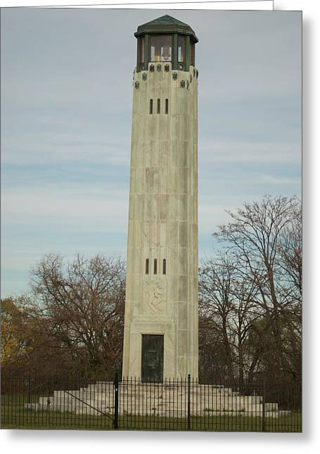 Belle Isle Greeting Cards - Livingstone Memorial Light Greeting Card by Michael Peychich