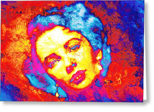 Liz Taylor Greeting Cards - Liz Taylor Greeting Card by Jose Espinoza