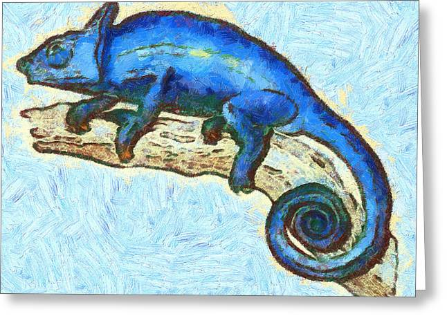 Rare Mixed Media Greeting Cards - Lizzie Loved Lizards Greeting Card by Nikki Marie Smith