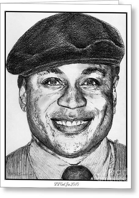 African-american Drawings Greeting Cards - LL Cool J in 2010 Greeting Card by J McCombie