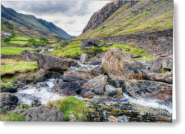 Llanberis Pass Greeting Card by Adrian Evans