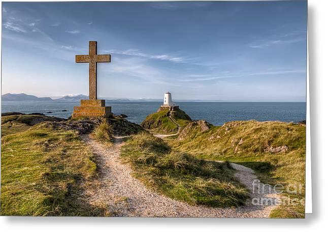 Anglesey Greeting Cards - Llanddwyn Island Greeting Card by Adrian Evans