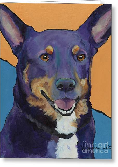 Dog Prints Greeting Cards - Llano Greeting Card by Pat Saunders-White
