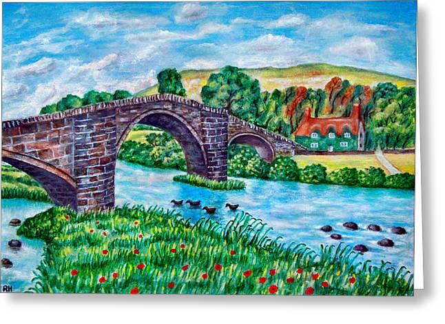 Llanrwst Bridge - Wales Greeting Card by Ronald Haber