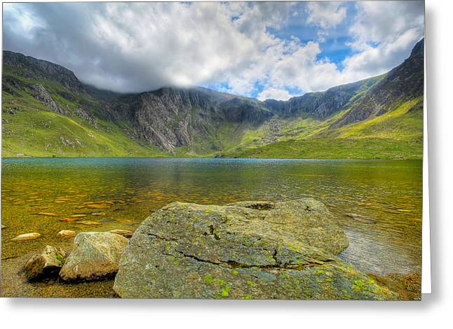 Hdr Landscape Digital Greeting Cards - Llyn Idwal Greeting Card by Adrian Evans