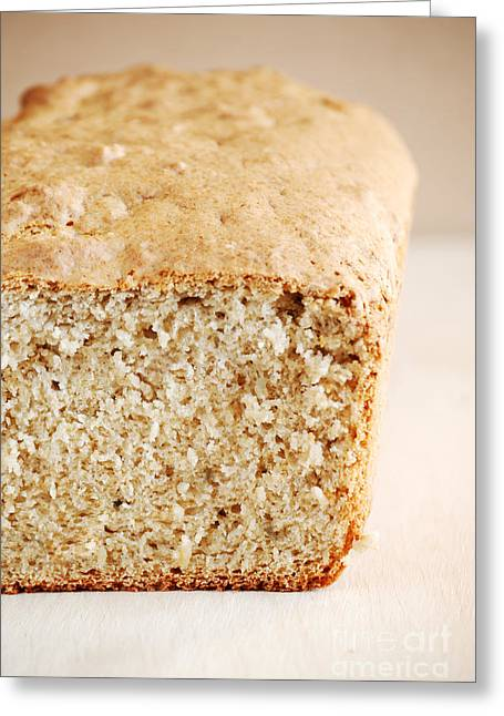 Baked Greeting Cards - Loaf Of Fresh Bread Greeting Card by HD Connelly