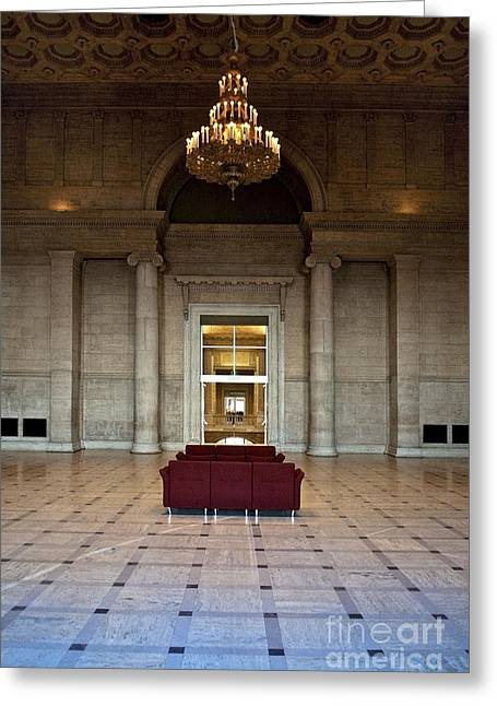 Spotless Greeting Cards - Lobby in Fancy Building Greeting Card by Eddy Joaquim