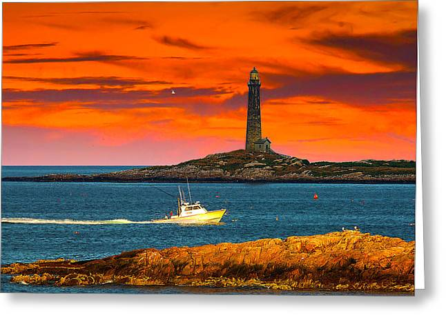Randall Branham Greeting Cards - Lobster boat Cape Cod Greeting Card by Randall Branham
