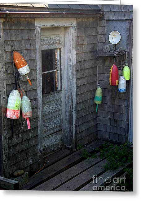 Lobsterman's House Greeting Card by Brenda Giasson